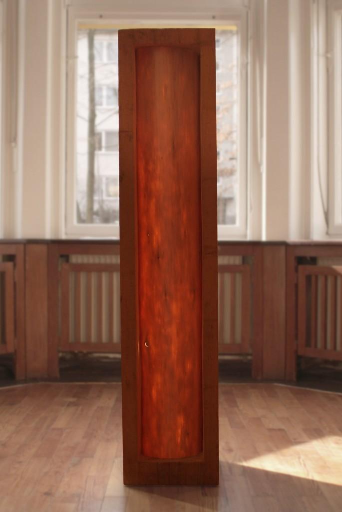 Thannöd (von vorn), 2007, Vierkant, 145 x 31 x 31 cm | Thannöd (front), 2007, square timber, 145 x 31 x 31 cm