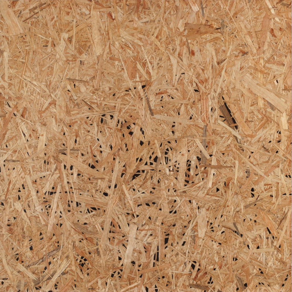 o.T., 2016, Intarsien in Gronspanplatte, 65 x 65 cm | detail (untitled, 2016, inlays in OSB, 65 x 65 cm)