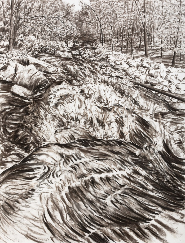 o.T., 2017, Kohle auf Papier, 200 x 152 cm | untitled, 2017, charcoal on paper, 200 x 152 cm