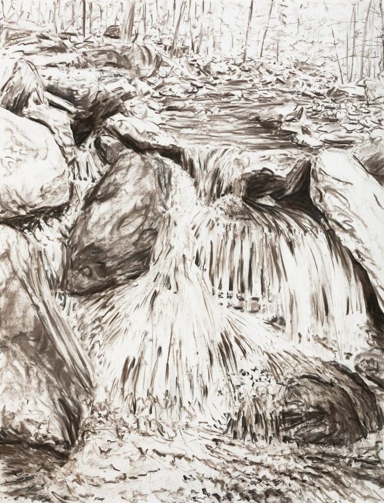 o.T., 2017, Kohle auf Papier, 200 x 152 cm   untitled, 2017, charcoal on paper, 200 x 152 cm