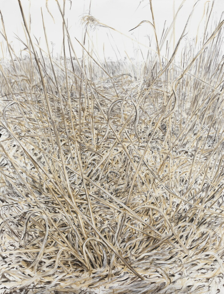 o.T., 2021, Lehm, Kohle und Kreide auf Papier, 200 x 152 cm   untitled, 2021, clay, charcoal and chalk on paper, 200 x 152 cm