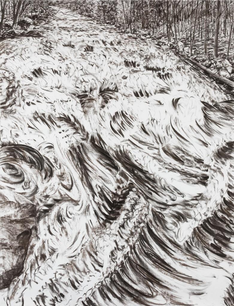 o.T., 2018, Kohle auf Papier, 200 x 152 cm | untitled, 2017, charcoal on paper, 200 x 152 cm