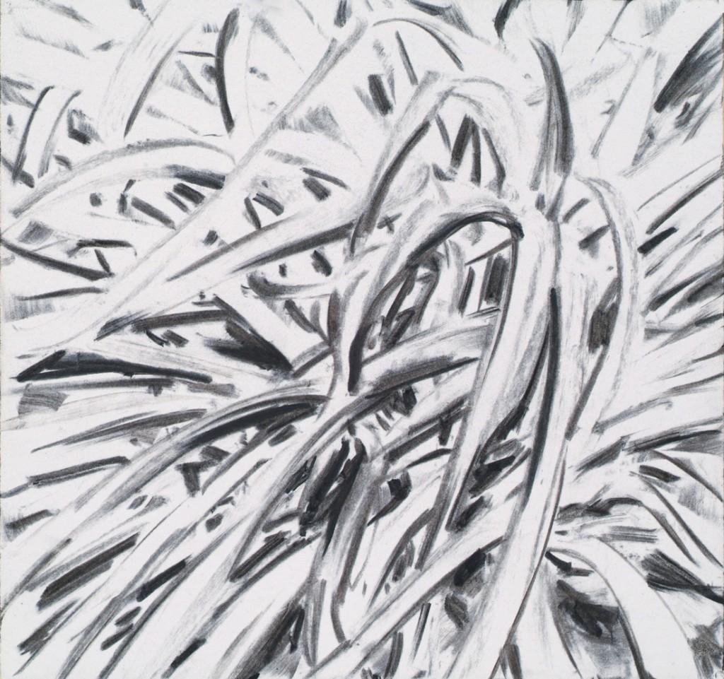o.T., 2013, Kohle auf Papier, 20 x 21 cm   untitled, 2013, charcoal on paper, 20 x 21 cm