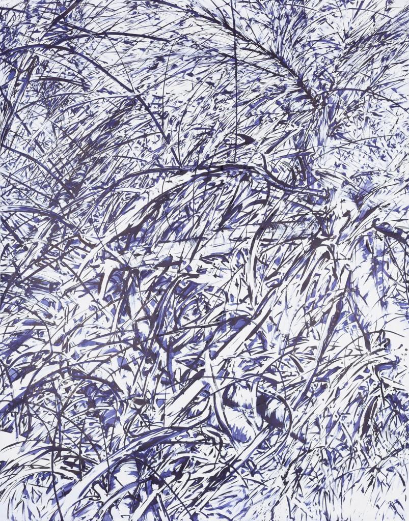 o. T., 2016, Tusche auf Papier, 250 x 196 cm | untitled, 2016, ink on paper, 250 x 196 cm